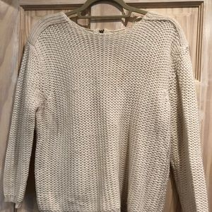 Knit off-white chunky sweater
